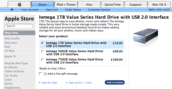 1TB Hard Drive Only Costs Your £19.95