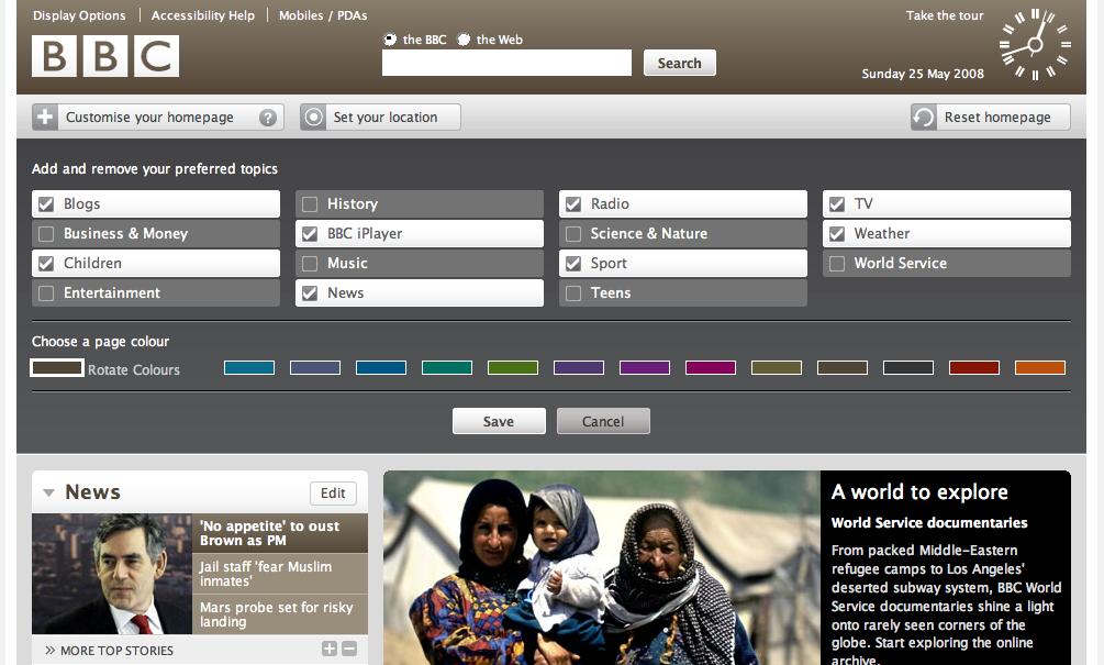 BBC Homepage