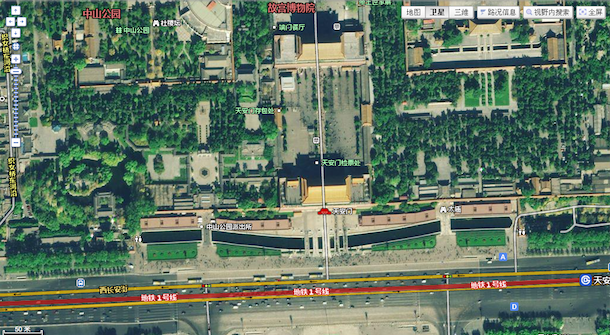Baidu Map Now Supports Satellite View Looks More Clear Than