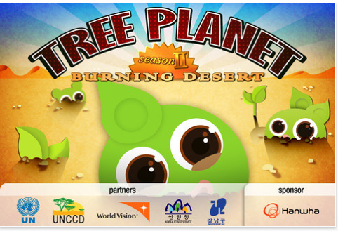 TP_31 Korean Mobile App Tree Planet, Turns Growing Virtual Trees into Planting Real Trees South Korea