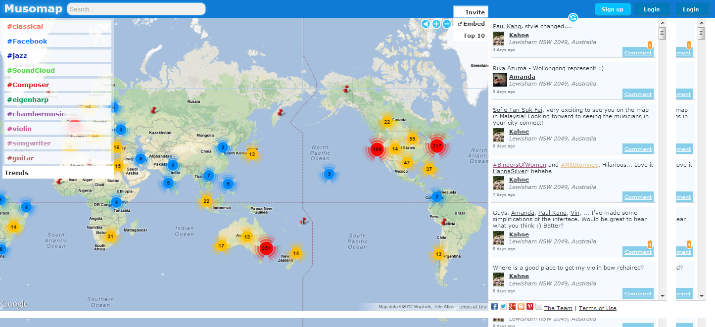 Musomap- The Global Map of Musicians