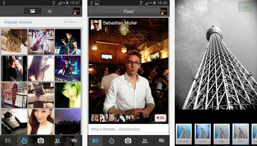 Screenshots of P1 Mobile App
