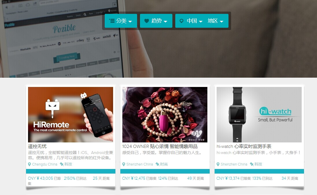 Chinese Projects on Pozible