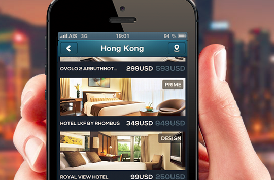 "The app displays actual discount, best price, and the team's ""hand-picked"" hotels."