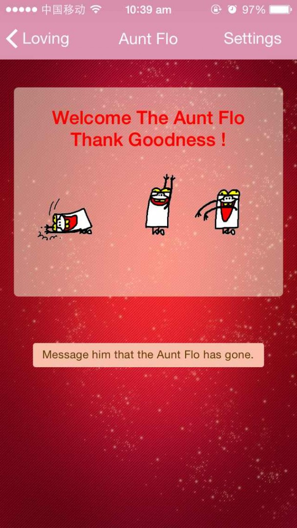 The 'Aunt Flo' notification feature