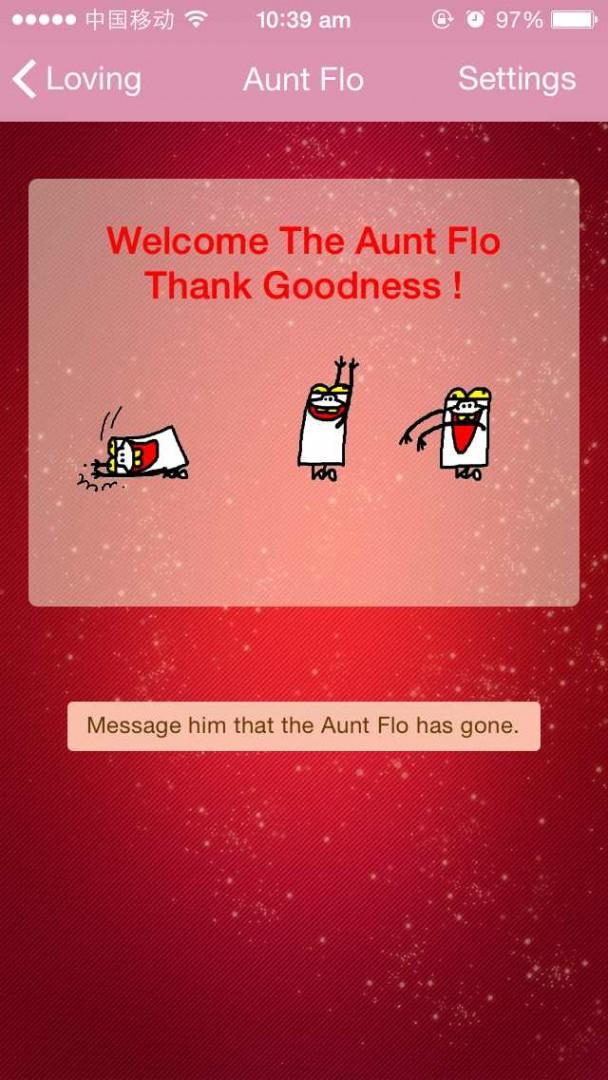 The 'Aunt Flo' notification feature