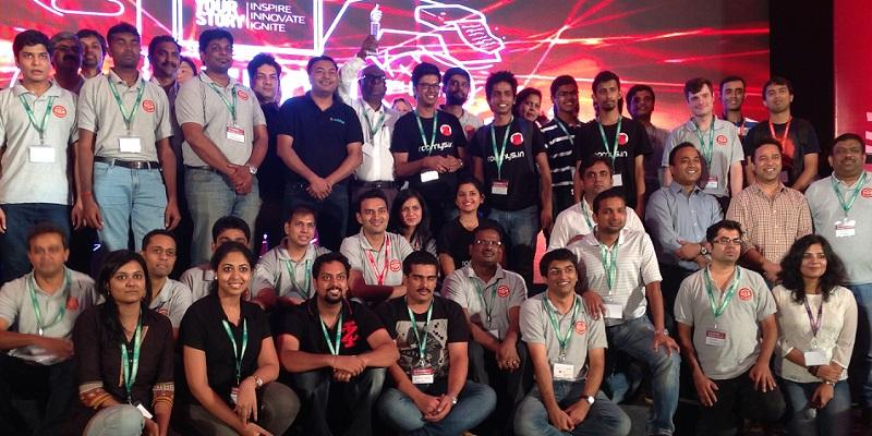 Startup Teams on stage at TechSparks 2014