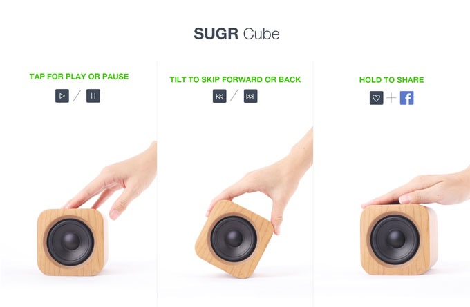 sugr2 Gesture Controlled Speaker Sugr Cube Launched on KickStarter gadget Crowdfunding chinese startup CHINA