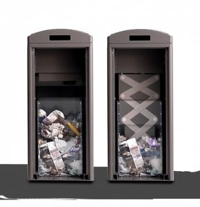 Solar-powered compaction bin Clean Cube
