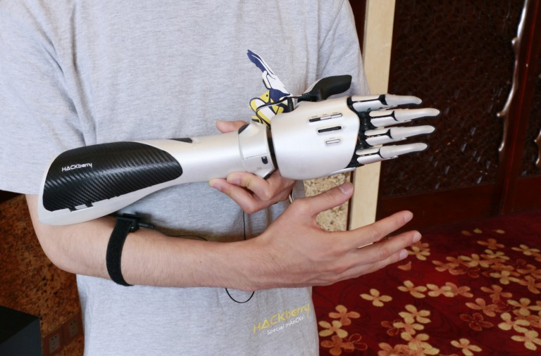 exii.Inc's bionic arm for amputees and those moments when you wish you had a 3rd arm.
