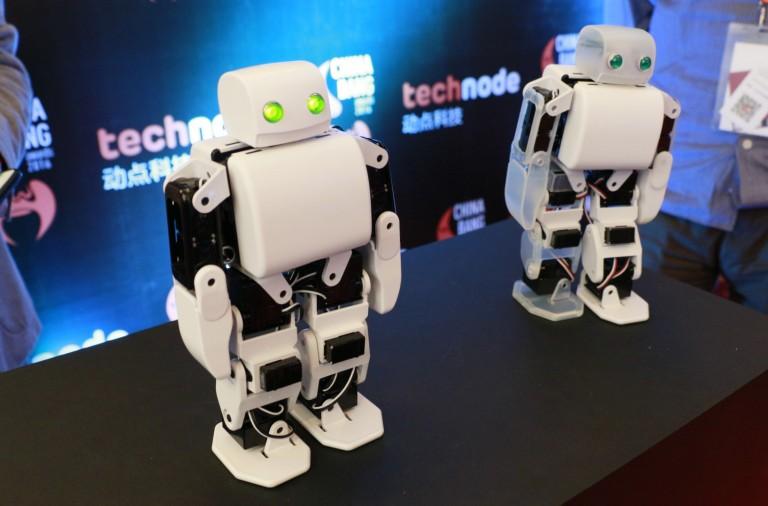 The PLEN2 robot, customizable via user code