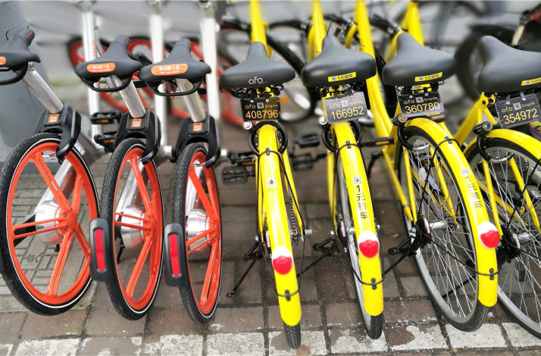mobike ofo bike-rental china