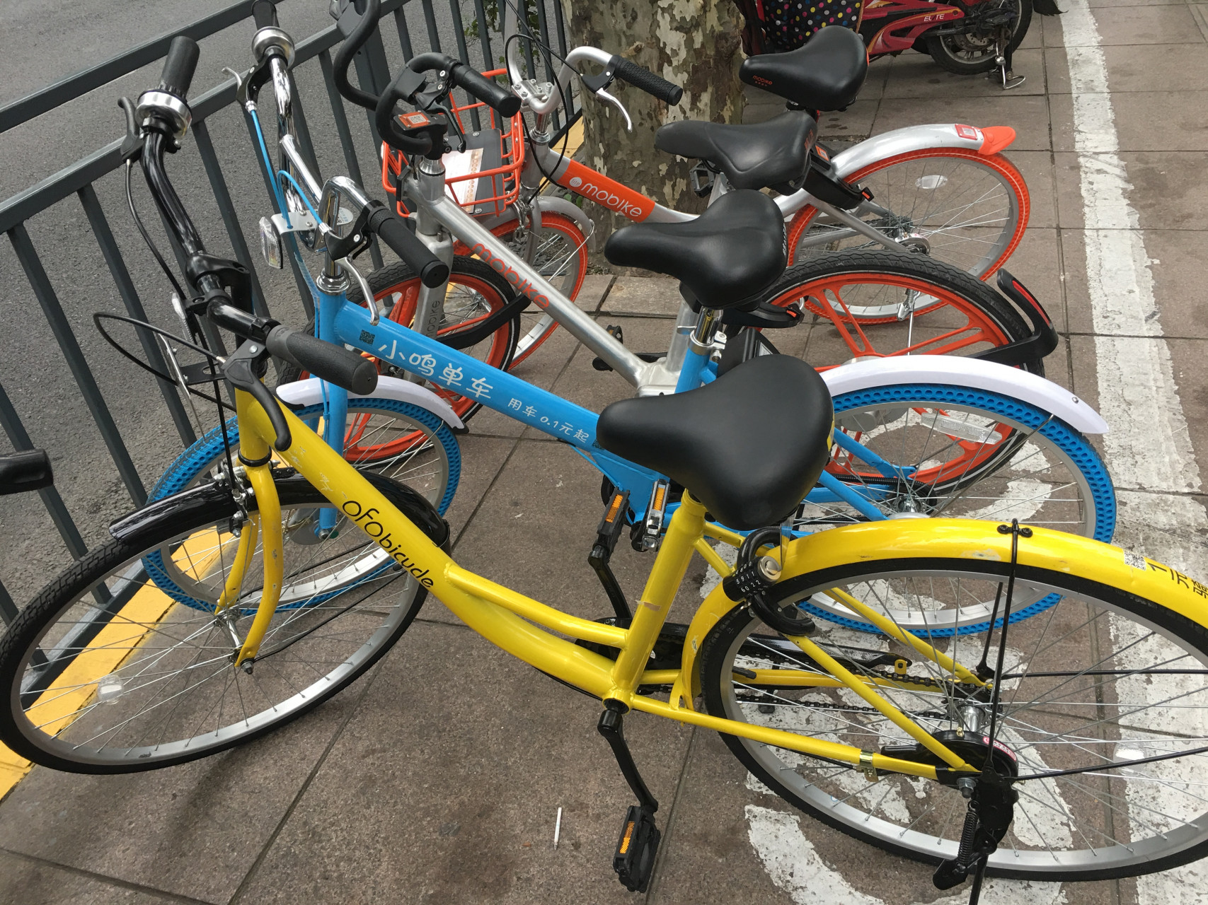 Shanghai Bike Sharing Battle Ofo Vs Mobike Vs Xiaoming