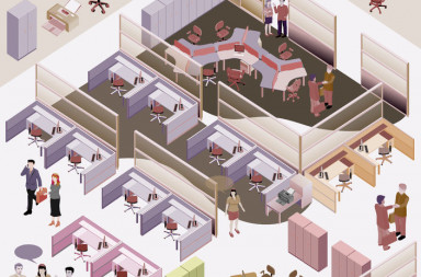 29246267 - office isometric  with completed workstation, meeting room, receptions, lobby, include business people, activity