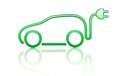 10939062 - illustration of electric powered car symbol