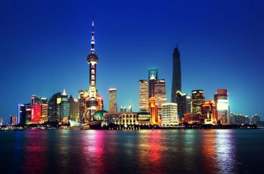 45929152 - shanghai at night, china