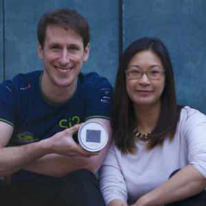Kaiterra founders Liam Bates and Jessica Lam. Image credit: Forbes