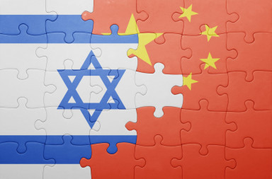 China Israel flags