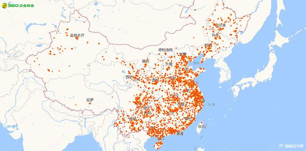 Qihoo 360 map China WannaCry