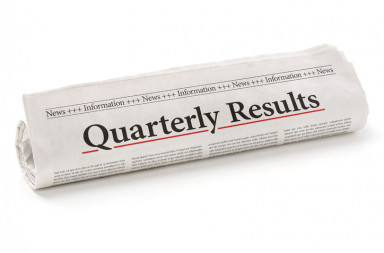 49221791 - rolled newspaper with the headline quarterly results
