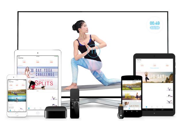Screenshot from Daily Yoga.