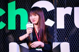 Pan Jie in conversation at TechCrunch Shenzhen (Image credit: VPhoto)
