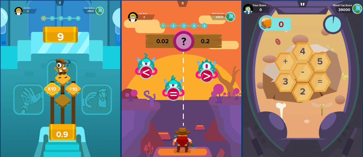 Screenshot from Zap Zap Math