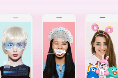 From left to right: 'Selfie from the Future', 'Instant Glam' and 'Meitu Family' (Image credit: Meitu)