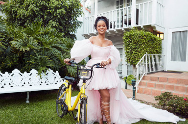 Rihanna Ofo Malawi Bike pose crop