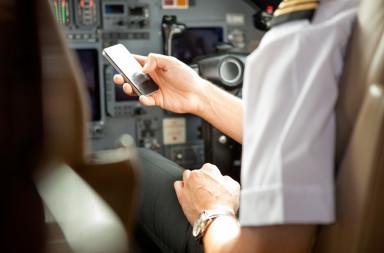 in-flight electronics