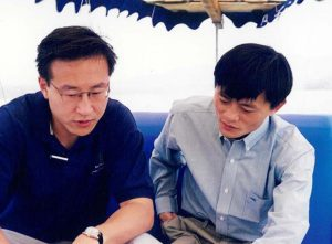 Joe Tsai and Jack Ma go way back. Image credit: Alibaba Group