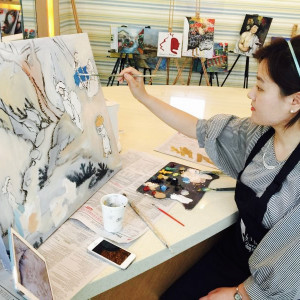 I paid for the 10 oil painting classes directly to my teacher Una using Alipay. (Image Credit: TechNode)