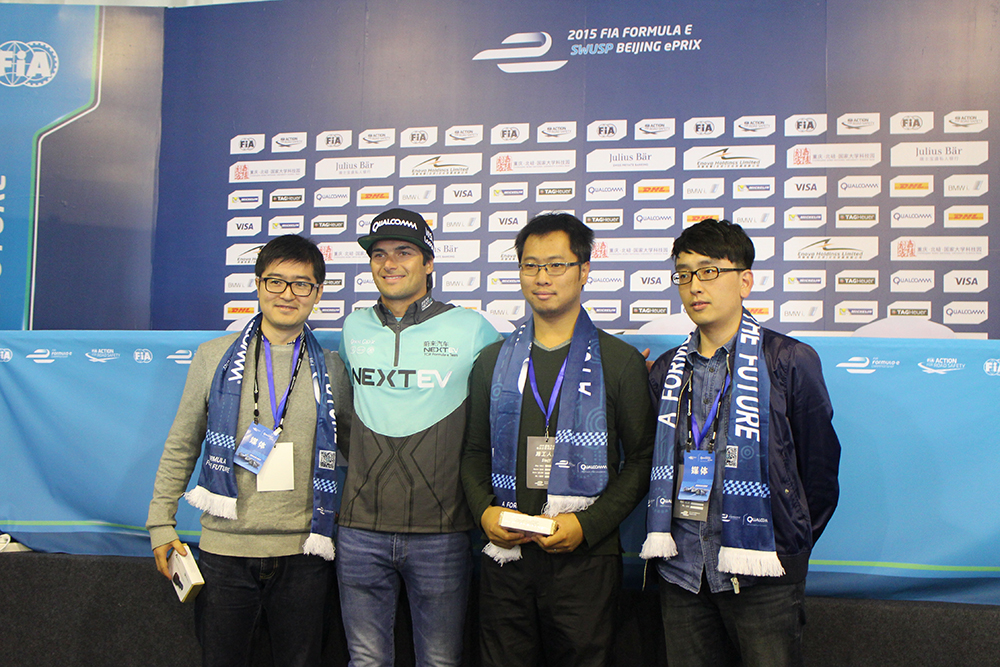 Nelson Piquet Junior in Beijing for the FIA Formula E race in 2014. Image credit: TechNode