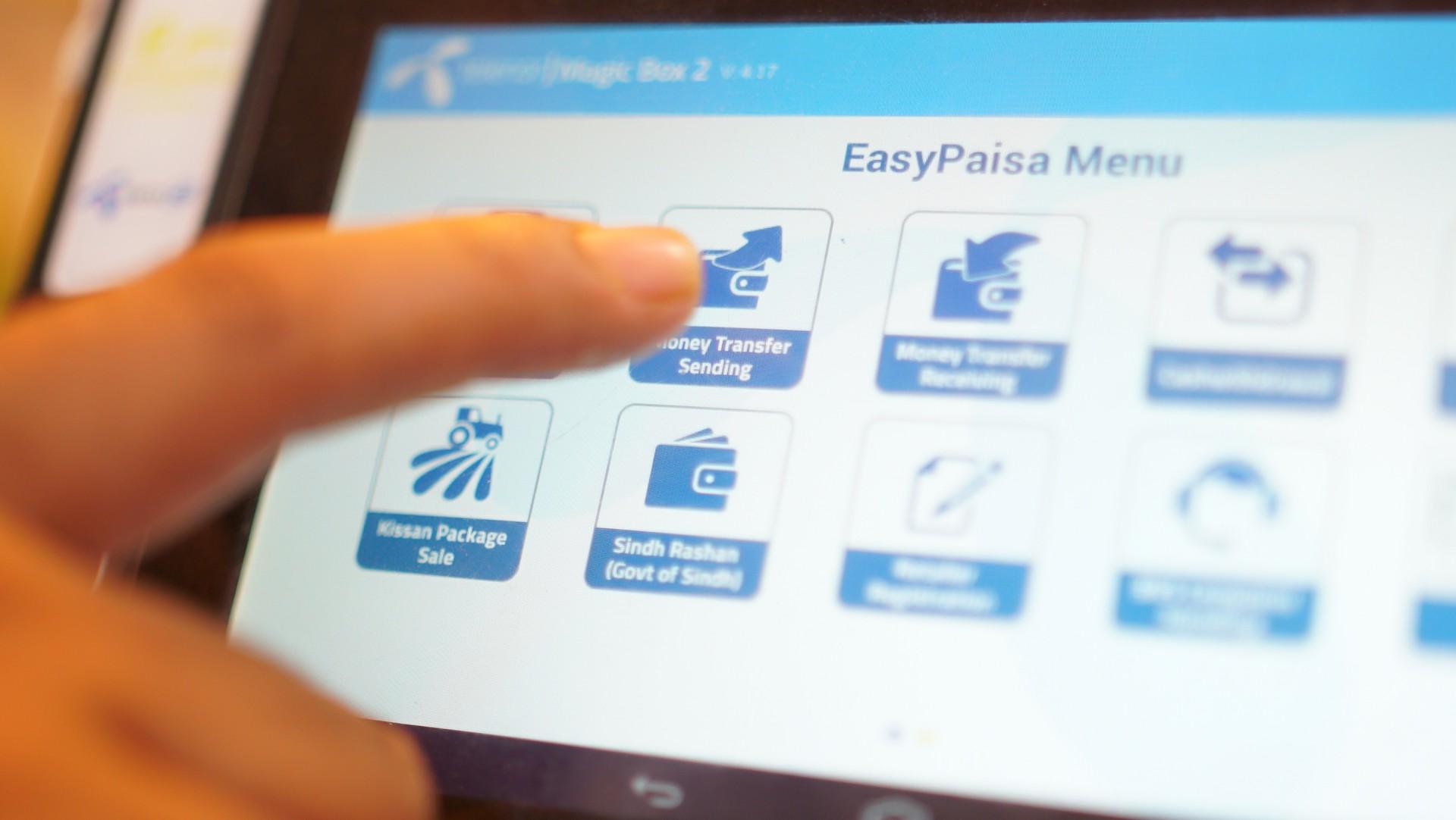 Easypaisa interface Pakistan