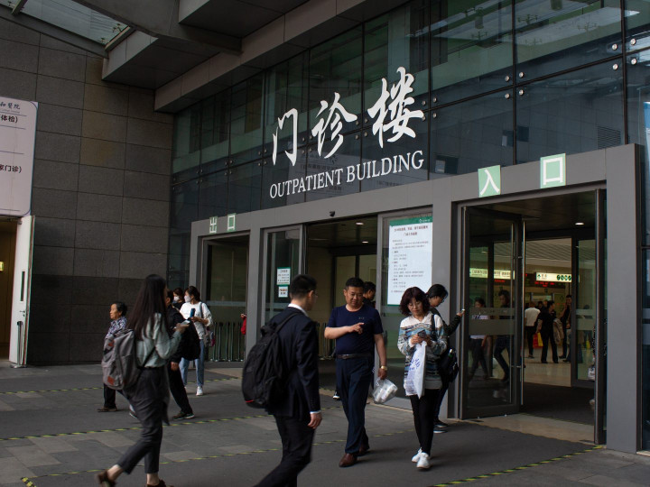 Patients visit Beijing Xiehe Hospital on April 17, 2019. (Image credit: TechNode/Cassidy McDonald)