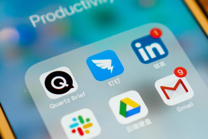 DingTalk is an communication and collaboration platform for enterprises developed by Alibaba. (Image credit: TechNode/Eugene Tang)