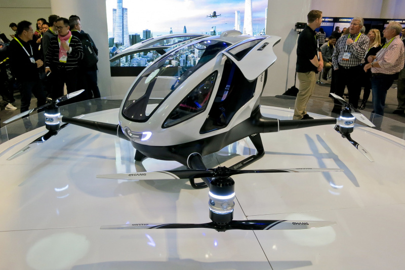 drones transporation urban air mobility flying taxis Ehang uber volocopter Guangzhou